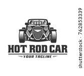 template of hot rod car logo ... | Shutterstock .eps vector #762853339