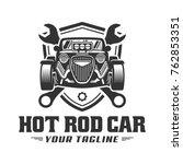 template of hot rod car logo ... | Shutterstock .eps vector #762853351