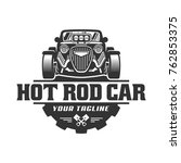 template of hot rod car logo ... | Shutterstock .eps vector #762853375