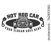 template of hot rod car logo ... | Shutterstock .eps vector #762853381