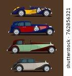retro cars set | Shutterstock .eps vector #762856321