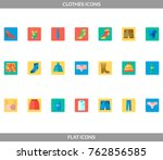 simple set of clothes and... | Shutterstock .eps vector #762856585