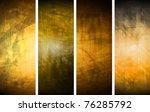 vector textural banners in... | Shutterstock .eps vector #76285792