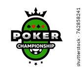 poker championship logo  emblem. | Shutterstock .eps vector #762858241