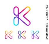 abstract letter k line monogram ... | Shutterstock .eps vector #762867769