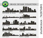 most famous brazil travel... | Shutterstock .eps vector #762876841