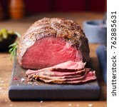 Roast Beef On Cutting Board....