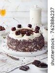 black forest cake  schwarzwald...   Shutterstock . vector #762886237