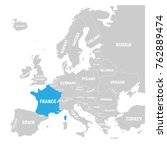 france marked by blue in grey... | Shutterstock .eps vector #762889474