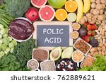 food rich in folic acid | Shutterstock . vector #762889621