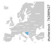 bosnia and hercegovina marked... | Shutterstock .eps vector #762889627