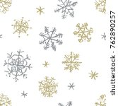christmas snowflake hand... | Shutterstock .eps vector #762890257