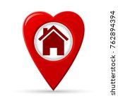 heart shaped map pointer of... | Shutterstock .eps vector #762894394