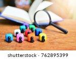 people symbol focus one yellow... | Shutterstock . vector #762895399