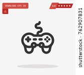 gamepad icon in trendy flat...