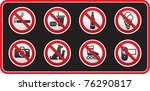 prohibited signs sticker | Shutterstock .eps vector #76290817