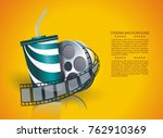 movie time  vector poster... | Shutterstock .eps vector #762910369