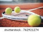 tennis game. tennis ball with... | Shutterstock . vector #762921274