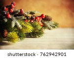 christmas background. happy new ... | Shutterstock . vector #762942901