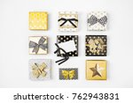 flat lay christmas or party... | Shutterstock . vector #762943831