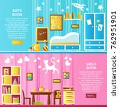 baby room two horizontal... | Shutterstock . vector #762951901