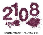 congratulation 2018 new year... | Shutterstock . vector #762952141