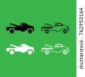 breakdown truck icon . black... | Shutterstock .eps vector #762953164