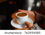 a cup of hot turkish coffee in... | Shutterstock . vector #762954385