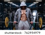brutal strong bodybuilder... | Shutterstock . vector #762954979