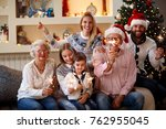 happy family moments    ... | Shutterstock . vector #762955045