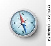 realistic magnetic compass... | Shutterstock .eps vector #762956611