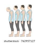 different generation aging men... | Shutterstock .eps vector #762957127