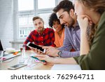 design students learning... | Shutterstock . vector #762964711