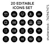 set of 20 board outline icons... | Shutterstock .eps vector #762967471