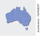 high detailed blue map ... | Shutterstock .eps vector #762968257