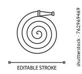 fire hose linear icon.... | Shutterstock .eps vector #762969469