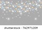 christmas lights isolated... | Shutterstock .eps vector #762971209