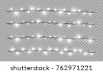 christmas lights isolated... | Shutterstock .eps vector #762971221