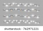 christmas lights isolated... | Shutterstock .eps vector #762971221