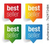 best seller label speech bubble | Shutterstock .eps vector #762972484