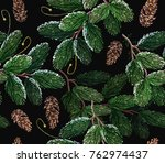 christmas art pattern. clothes  ... | Shutterstock .eps vector #762974437