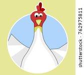 sticker cartoon chicken icon....