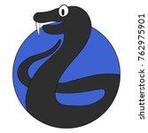 viper cartoon icon flat app....