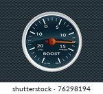 turbo boost gauge | Shutterstock .eps vector #76298194