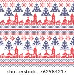 christmas new year's winter... | Shutterstock .eps vector #762984217