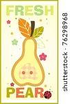 pear sticker   Shutterstock .eps vector #76298968