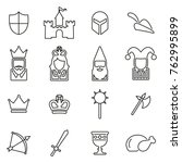 medieval time   culture icons... | Shutterstock .eps vector #762995899