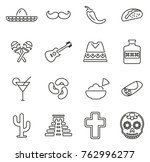 mexican culture   heritage... | Shutterstock .eps vector #762996277