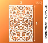 laser cut ornamental panel with ... | Shutterstock .eps vector #762997231