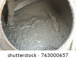 concrete mixer with cement... | Shutterstock . vector #763000657
